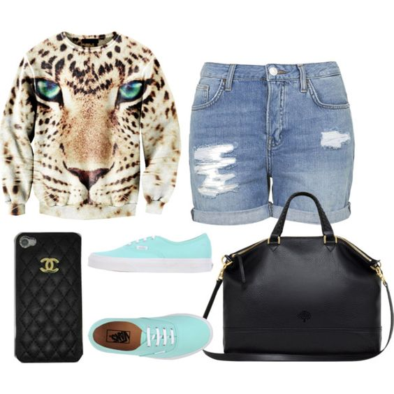 Untitled #776 by lolo-folarin-doe on Polyvore featuring Topshop, Vans, Mulberry and Chanel