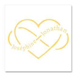 tatouage temporaire personnalis dor pour votre mariage avec vos pr noms dans un coeur infini. Black Bedroom Furniture Sets. Home Design Ideas