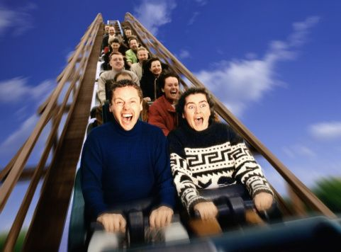 What is a good description of a roller coaster in terms of physics?