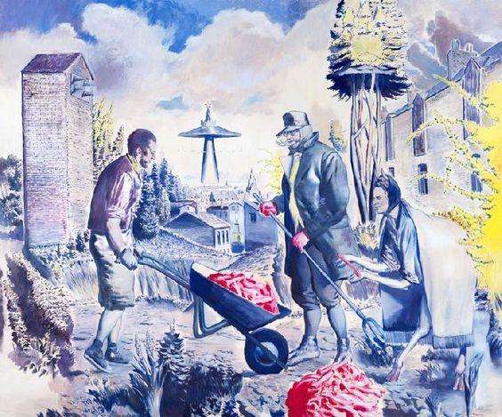 Galerie EIGEN+ARTNeo Rauch Die Fuhre   2013 Öl auf Leinwand 250 x 300 cm