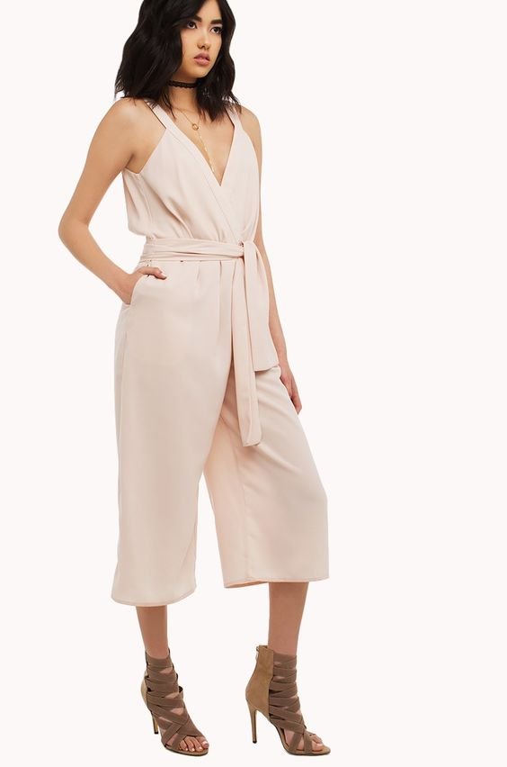 V back summer dress culottes
