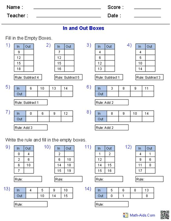 math worksheet : math aids com  printable math worksheets for various math topics  : Math Function Worksheets