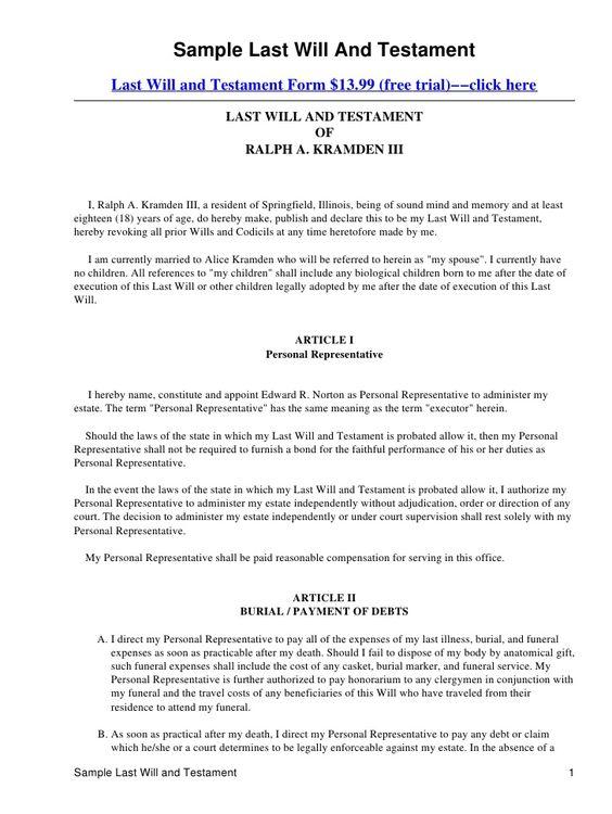 Last will and testament template Form Massachusetts Last will - free divorce decree forms