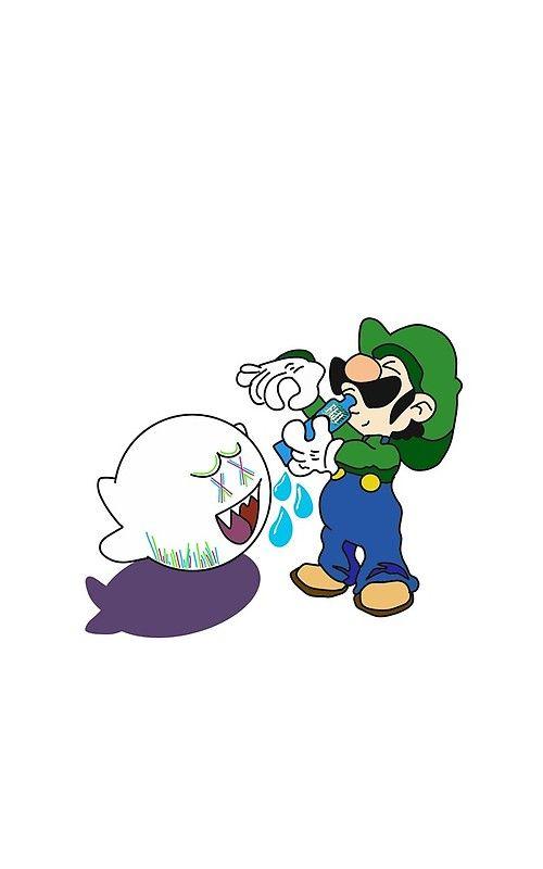 Luigi And Boo Kaws\u0027 Art Print by XxlilpumpxX in 2019