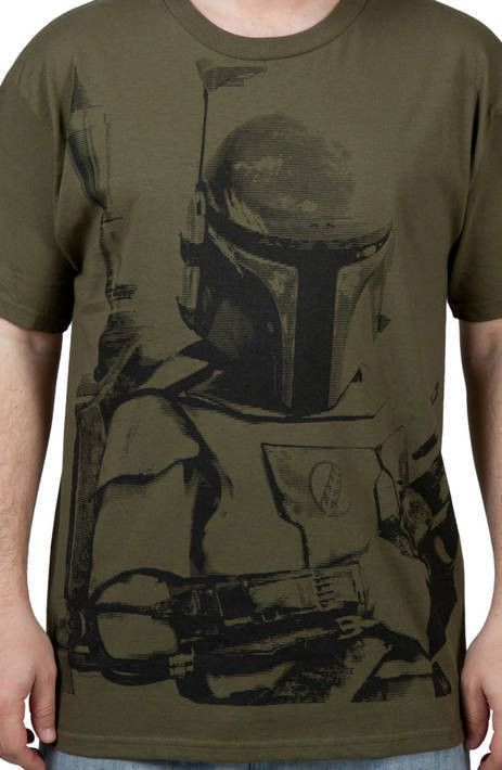 Army Green Boba Fett Shirt