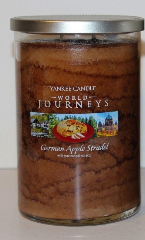 German Apple Studel (22oz large tumbler) Yankee Candle World Journeys Collection