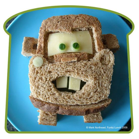 Mater sandwich, this is so cute. I think Tru would love it.