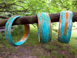 EVERGREEN: recycled bracelets Tutorial