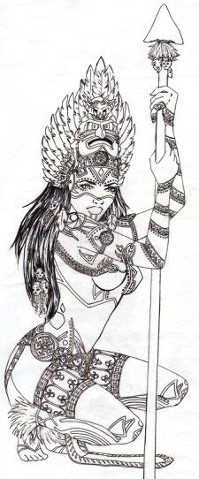 Aztec warrior tattoo beautiful my nxt tattoo on my thigh