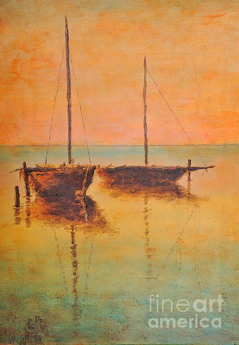 Boats Acrylics And Ocean On Pinterest