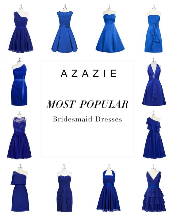 Azazie is the online destination for special occasion dresses. Find the perfect bridesmaid dresses, with over 300 styles in royal blue on AZAZIE.  See more on the website: http://www.azazie.com/all/bridesmaid-dresses/colors/royal-blue