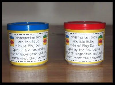 Cute gift for meet and greet or back to school night! So cute for Kinder!
