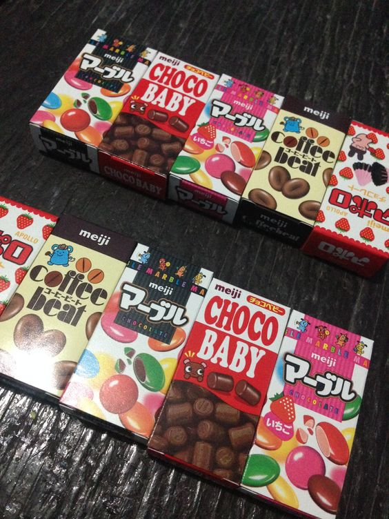 Meiji chocolates