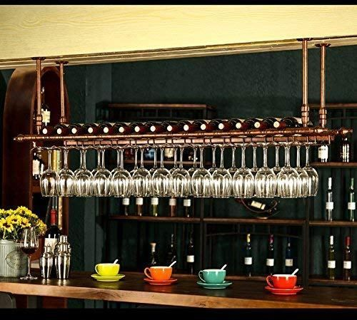 Wgx Design For You Wine Bar Wall Rack 60 Hanging Bar Glass Rack