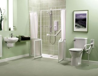 Walk in showers for seniors walk in showers for elderly - Disabled shower room ...
