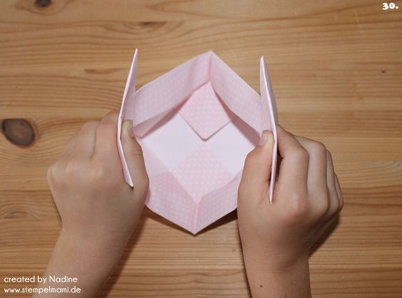 Anleitung Tutorial Origami Tasche Stampin Up Box Goodie Swap 041