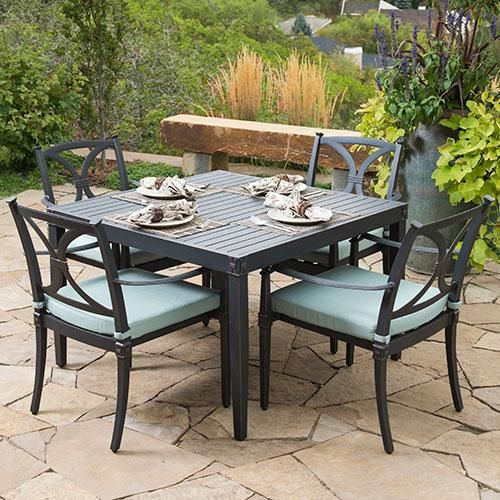 Astoria 5 piece Café Dining Set in Bliss can help you entertain your guests through the summer! Find it here.