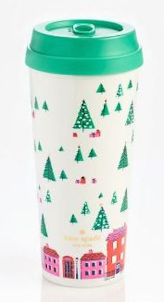Kate Spade Holiday Village Mug