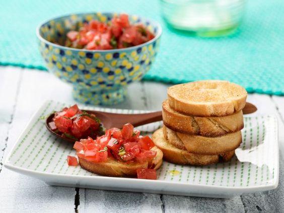 Bruschetta with Tomato and Basil #Seasonal #Tomatoes