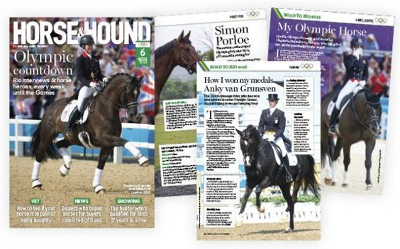 EXCITING NEWS... H&H Launches the Olympic Countdown, click here to find out http://www.horseandhound.co.uk/news/rio-2016-olympics-hh-launches-countdown-week-543987
