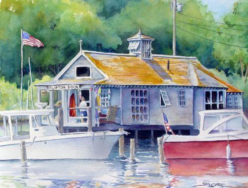 Clifton Dock, Northeast Harbor, Maine by Sue Lynn Cotton