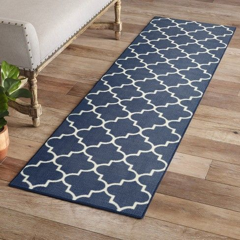 Fretwork Rug Threshold Target Navy Rug