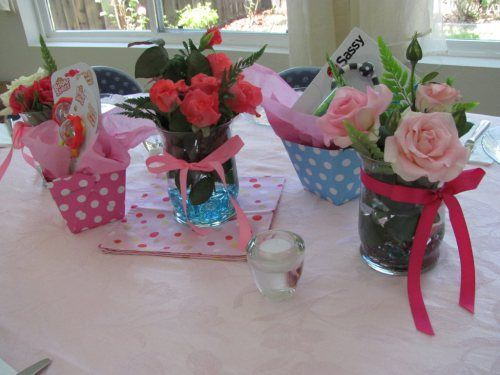 girl baby shower decorating ideas | Girl Baby Shower Table Ideas Photograph | Table Decorations