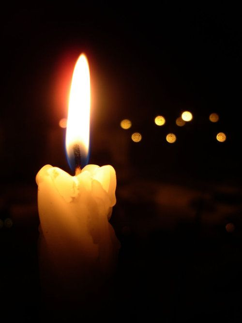 Dameon) To honor Brandon I light a candle and put it in his room. Then I sit there watching the light burn on.