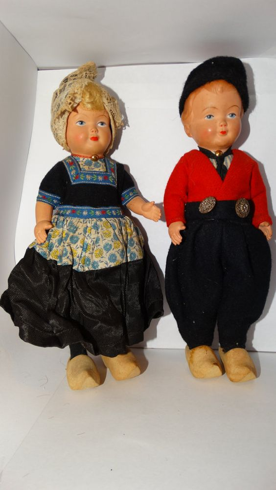 Antique 1950's Dutch Celluloid DOVINA DOLLS by TheIDconnection