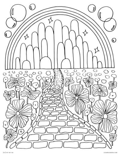 Wizard Of Oz Emerald City Coloring Wizard Of Oz Color Coloring Books Witch Coloring Pages