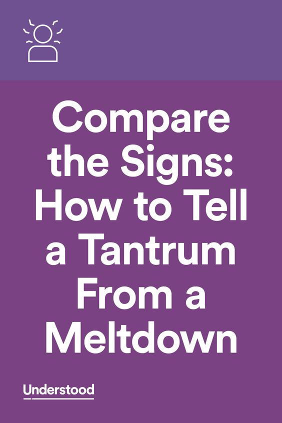 Your child is upset and acting out. Is he having a tantrum or a meltdown? Many parents and professionals use these terms interchangeably. But they are different behaviors that require different approaches. Here's how to tell one type of outburst from the other.