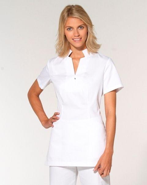Tunics hair and spa uniform on pinterest for Spa uniform tops