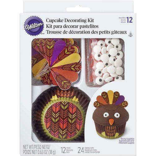 Thanksgiving Turkey Cupcake Decorating Kit