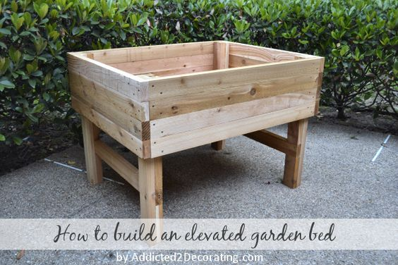 elevated planter bed
