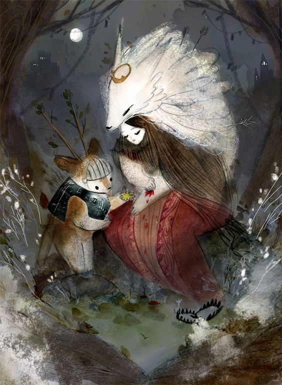 camille-andre-book: The Tale of the Lady White Wolf and her Little Deer Knight