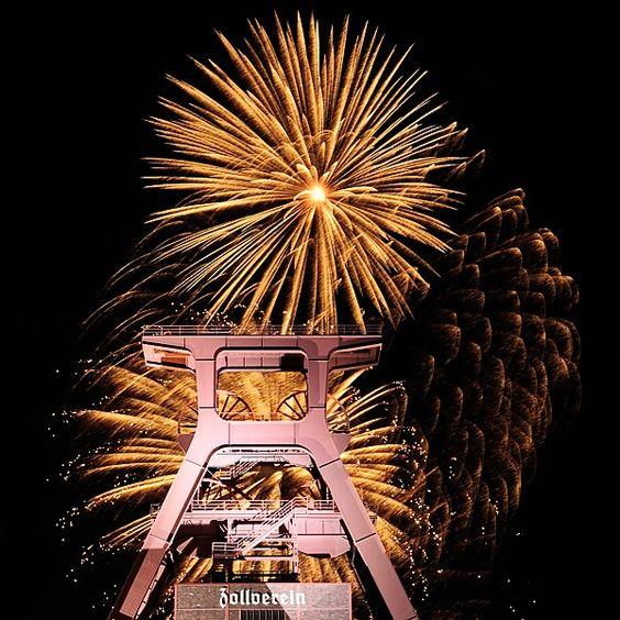 Feuerwerk Zeche Zollverein, Essen