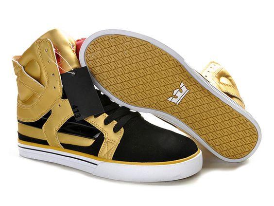 Mens Supra Skytop II Skate Shoe Golden Black White