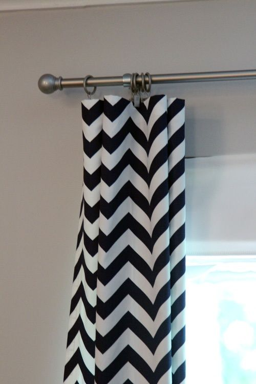 no sew curtains- helpful for a cheap babies room!