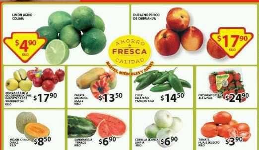 Frutas y Verduras Soriana al 08 de Julio