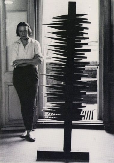 """Louise Nevelson by Arnold B. Glimcher:    Once her friend and patron Howard Lipman showed her an early American rocking chair that he had just acquired. He asked Nevelson's opinion of the chair. """"I couldn't care less about the chair,"""" she said, """"but look at its shadow."""""""