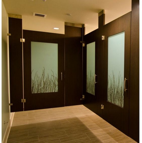 Commercial wood bathroom stall doors 800 806 public restrooms pinterest for Commercial bathroom partition doors