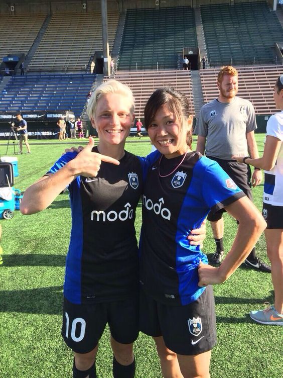Soccer ladies #2 and #3 - Nahomi 'NAHO' Kawasumi and Jessica Fishlock