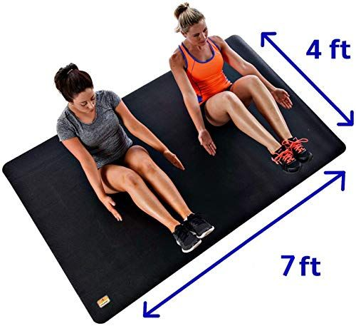 New Pogamat Use Shoes Without Xxl Yoga Mat 7 X 4 X 1 4 Thick Workout Mat High Density Foam Mat Perfect Home Gyms Garage Gyms Home Pilates Mat Cardio In 2020