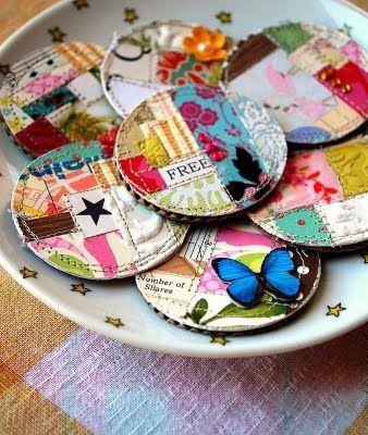 Scrap paper magnets