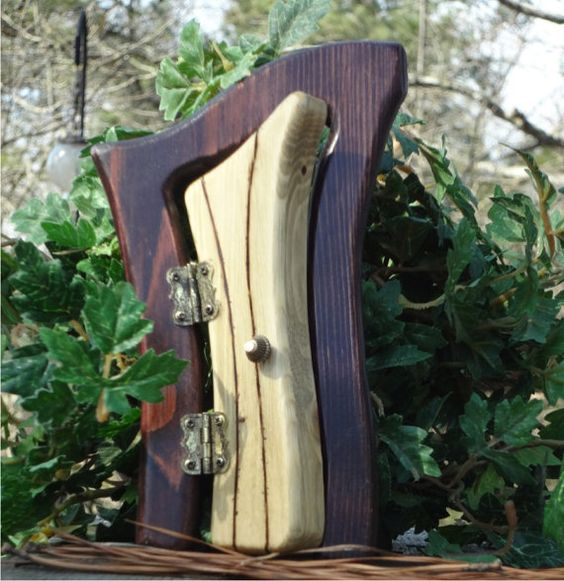 Fairy doors harp and celtic on pinterest for Irish fairy door ideas