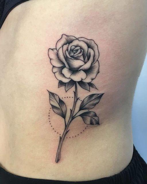 48 Beautiful Rose Tattoo Ideas For Summer Rose Drawing Tattoo Rose Tattoos Small Rose Tattoo