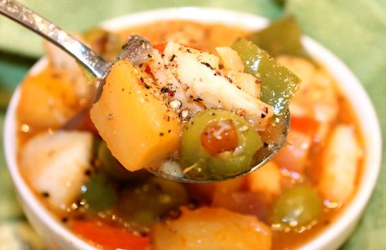 Stew blog and cod fish on pinterest for Fish soup cod
