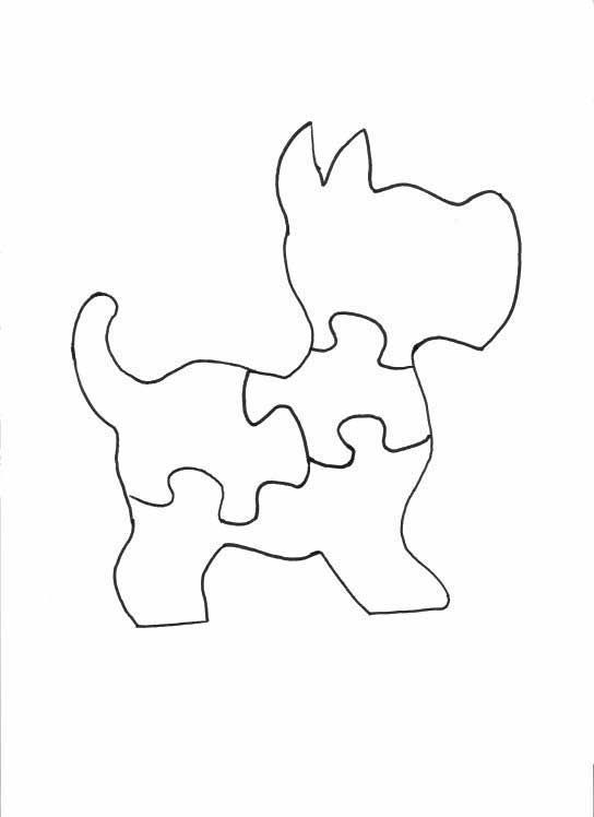 Scotty Dog Puzzle scroll saw patterns:
