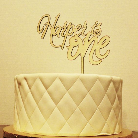 """Happy 1st Birthday Cake Topper Personalized """"Your Child"""" is ONE by GiftsAndEngagements on Etsy Cake Topper Happy Birthday First Birthday Boy Birthday Birthday Cake Sweet Sixteen Birthday cake Topper Birthday Decorations Birthday Decor Party Decorations quinceanera Personalized 1st Birthday"""