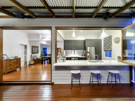 Indoor outdoor kitchen renovation ideas pinterest for Kitchen ideas for queenslanders